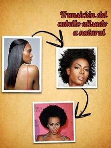 Transición de cabello alisado aafro